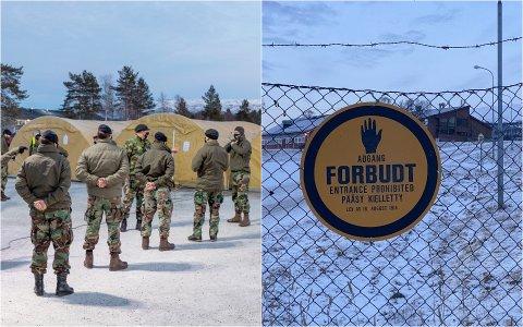 FLYTTES: Grunnet det ventede uværet «Frank» blir 600 amerikanske soldater flyttet fra Elvegårdsmoen i Bjerkvik til Åsegården i Harstad.