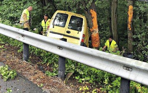 UTFORKJØRING: Først da han våknet alene bak rattet forsto den 41-årige mannen at han hadde kjørt bil. Han kunne ikke huske noe fra kjøreturen.