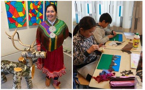 Aina Idland håper at elevene tar med seg mye gøy og et litt nytt syn på samene etter denne uken.