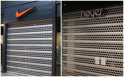 Nike og Høyer er tirsdag morgen de eneste butikkene på Norwegian Outlet som har stengt.