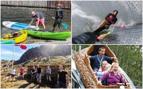 SUP og kajakk, vannski, fjelltur eller kanskje en tur i Kongeparken? Dette er blant tingene du kan finne på i Gjesdal i sommer.