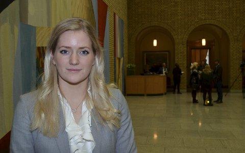 GRENSEKRIM: – Hva gjør justisministeren for å styrke politi og tollvesen i kampen mot grensekrim, spør Emilie Enger Mehl i Stortingets spørretime.