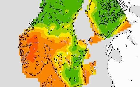 Fredag er det et høytrykk i Sør-Norge. Dette ventes å vare gjennom helga.