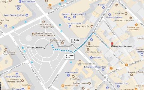 Andreas og Maren bor på et hotell like ved Placa de Catalunya hvor bilen skal ha kjørt inn i folkemengden.