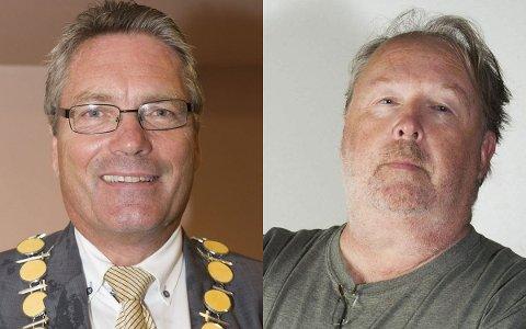 UENIGE: Ordfører Thor Edquist og Tom Skjeklesæther er kraftig uenige om prioriteringen av Allsang på Grensen.