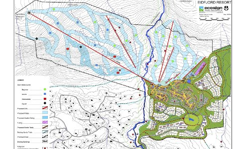 Sysendalen: Eidfjord Resort sin plan omfattar skianlegg, aktivitetsområde, hyttetomter, leilegheitsbygg, sentrumsbygg, gågate, parkeringshus, opplevingssenter og servicebygg med meir. Illustrasjon: Ecosign