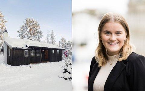 Eigedomsmeklar Trude Madtsen fekk inn bod på denne hytta berre 15 minutt etter at den var lagt ut på Finn.