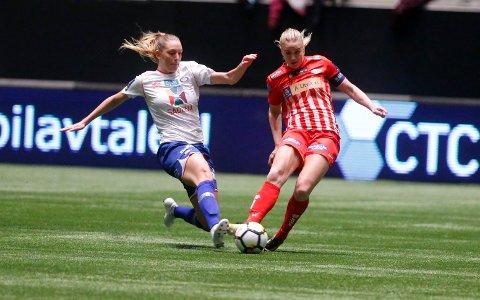 MATCHVINNER: Elise Thorsnes ble matchvinner da Avaldsnes slo Røa 1-0 på bortebane fredag kveld. Dette var Thorsnes' første kamp etter tre kampers karantene. Arkivfoto