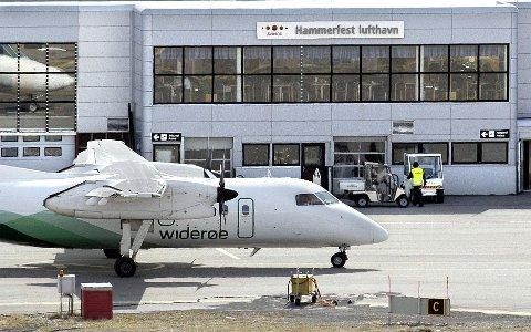 Prosentmessig går Hammerfest lufthavn mest ned med hele 26.1 prosent.