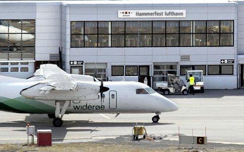 Hammerfest lufthavn. (Arkivfoto/ fotograf ukjent)