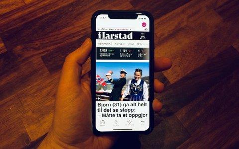 ENKELT: Appen heter iHarstad og kan lastes ned der du vanligvis finner apper. Lenger ned i saken finner du også direktelenker.