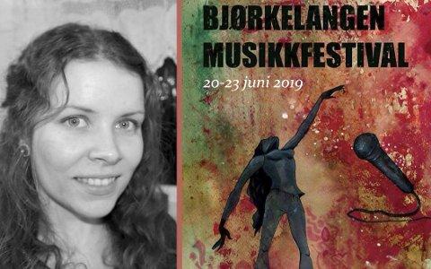 FJORÅRETS KUNSTNER: Renate Hauer fra Løken sto bak fjorårets plakat under Bjørkelangen Musikkfestival. Nå søker festivalen etter bidrag til årets plakat.