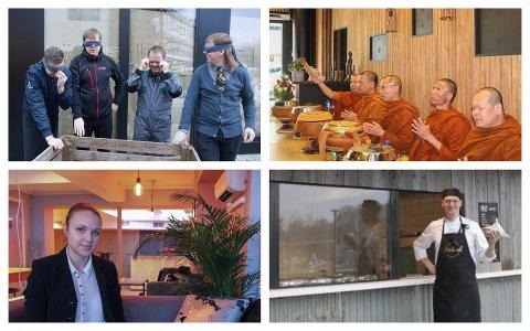 VARIERT: Hemmeleg, Ta's, Amber Restaurant og Pølsebuå te Håland er berre eit knippe av serveringsstadene som opna i 2019.