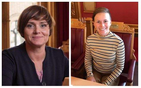 Margret Hagerup og Solfrid Lerbrekk har fått plass på Rogalandsbenken på Stortinget.