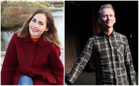 MELODI GRAND PRIX: Hege Bjerk frå Bryne og Roald Haarr frå Vigrestad står på MGP-scenen laurdag 1. februar.