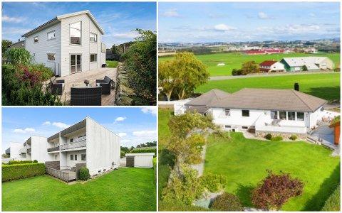 Disse tre boligene gikk unna i løpet av siste uka. Boligen helt til høyre i kollasjen, har adresse Nordsjøvegen 76 og ble solgt for 5,6 millioner kroner, som er 1, 1 millioner over prisantydning.