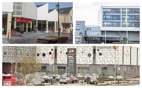 Kjøpesenterne på Jæren har alle til felles at enkelte butikker har måtte stenge midlertidig som følge av koronaviruset.