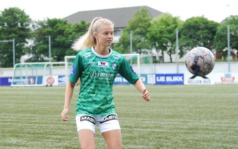 STARTER: Mille Aune spiller på midtbanen for Klepp mot Røa.