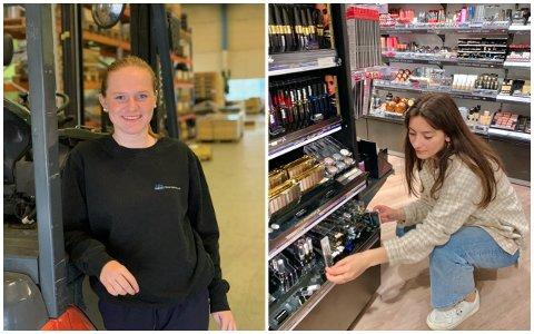 Johanne Friestad (15) og Eliona Orlishta (14) i arbeidsveke