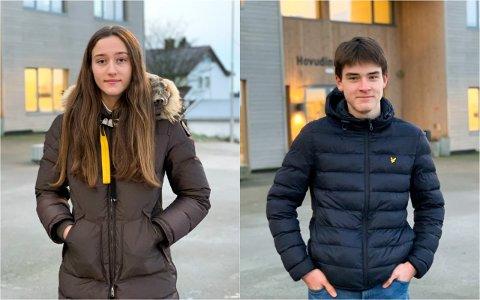 UNATURLIG: Aksel Log (15) og Aud Solheim (15) forstår tiltakene, men gleder seg til skolen ikke må følge rødt smittenivå mer.