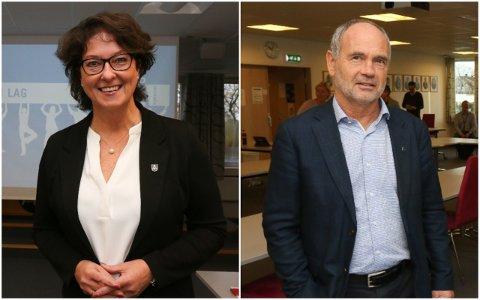 BER OM FULLMAKT: Kommunedirektør Anne Berit Berge Ims og ordførar Jonas Skrettingland kan få fullmakt i hastesaker som handlar om korona heile 2021.