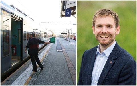 STILLER SPØRSMÅL: Stortingspolitiker, Tom Kalsås (Ap) vil ha svar om nett- og telefondekning langs Jærbanen.