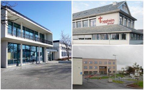 SMITTA ELEVAR: Både Nærbø ungdomsskule, Bryne ungdomsskule og Tryggheim vgs har elevar som har testa positivt for covid-19.
