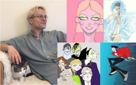 LIDENSKAP: Aleksander Nærbø bor i London hvor han håper å slå gjennom innen kunst og animasjon.