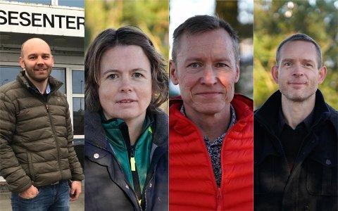 HAR SIGNERT: Kommuneoverlegene Anders G. Madsen og Gerd Signy Omland i Hå, Roman Benz i Klepp, Øystein Fjetland Øgaard i Time, har alle signert kronikken som ble publisert søndag kveld i VG.