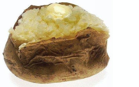 – Ei pottit takk! Nattlige bakte poteter smaker, beboerne synes det er smakløst. Foto: Pixabay