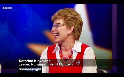 Fra Hillestad: Har det vært mange debatter både nasjonalt og internasjonalt. Her fra BBC Newsnight i 2016. Foto: Privat