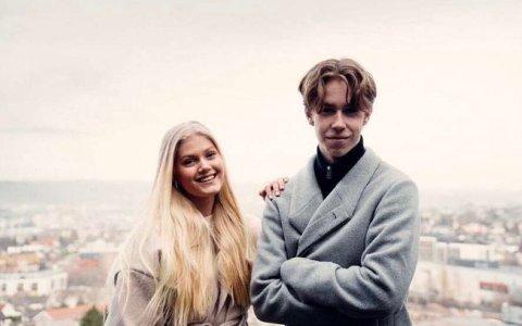 NYE STJERNESKUDD: Tobias oppdaget Linea da de gikk på ungdomsskolen. Nå har de sluppet sin første singel sammen.