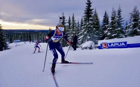 TIL SVEITS: Ida Emilie Herfoss er på plass i Sveits og klar for å debutere i IBU-cupen førstkommende lørdag.