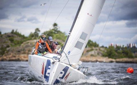 God seiling: Kragerø seilforening gjorde en god innsats i Norsk seilsportsliga i Bodø i helga. Dette bildet i flott driv på kryss er fra 2017.Foto: Privat