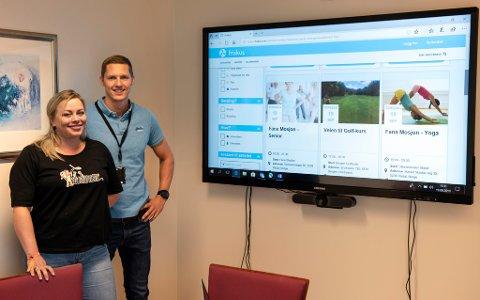 Veronica Thorkildsen Thorsen og Geir Ove Fosse har stor tru på at Frikus vil bli eit godt hjelpemiddel for å organisera frivillig aktivitet.