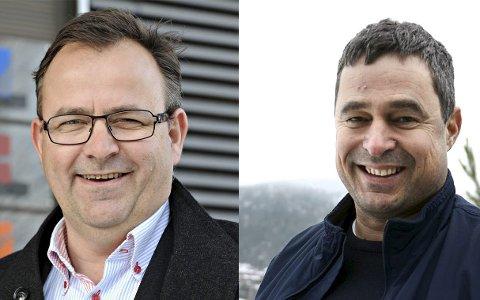Per Mikkelsen, direktør PK Eiendom AS, og Are Bråthen, daglig leder PK Hus AS.