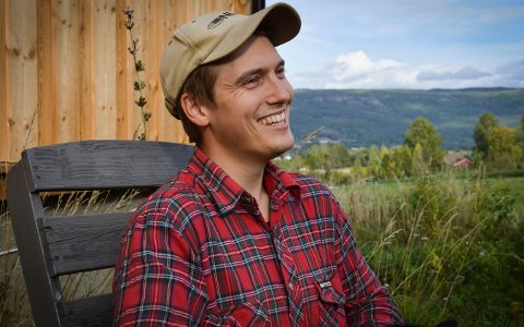 Jostein Tandberg tok over gården etter faren for litt over to år siden. Han satser fortsatt på økologisk frilandsgris.