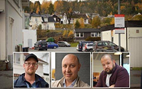 Lei: Tidligere ansatte i Kongsberg tur og transport er lei av å vente på lønn og feriepenger. Nå krever de at arbeidsgiver ordner opp. Øverst til venstre: Robert Bejenaru, Thomas Bralie (t.v) og Boyko Tomov.