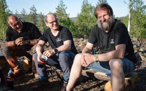 En ivrig gjeng møtes jevnlig for å gjøre det fint i Gruveåsen. fV: Geir Loe Winsrygg, Tor Magnus Anfinsen og Runar Halling.