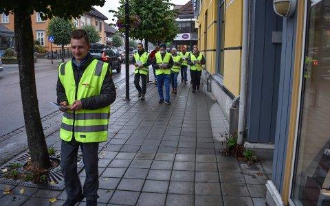 Streik: Joakim Bjølgerud Korsbøen leder an de streikende bussjåførene. FOTO: TONHILD S. STRAND