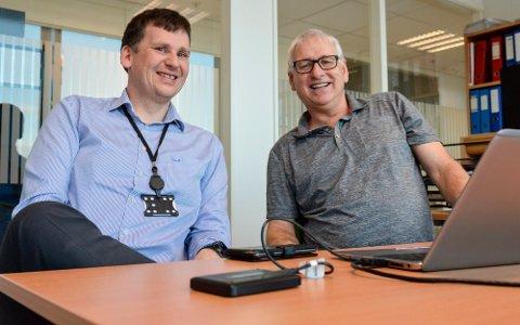 Rektor Eirik Hågensen (t.v.) og fagleder Jonny Pettersen er glade for at Fagskolen Viken får penger til å tilby korte deltidskurs til fagarbeidere i jobb.