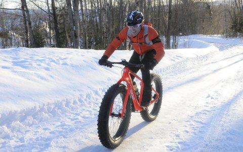 Ustoppelig: Det finnes knapt forhold som kan knekke Vidar Olsen på fatbike i vintersykling. Under Fat Viking tidligere i vinter vant han klart totalt, i en løype på 150 kilometer.