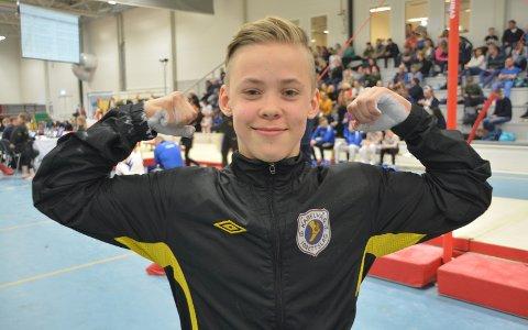 Historisk: Nikolai Fredriksen ble først utøver fra KIL turn i Norgesmesterskap for junior i apparaturn. arkivFoto: Geir Inge Winther
