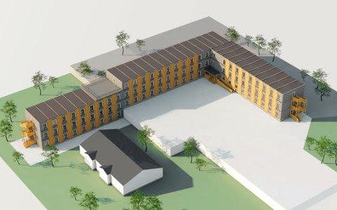 Tegninger av hotellet som skal bygges ved Evenes lufthavn.