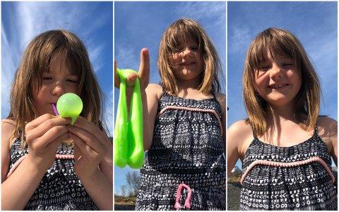 Hermine Hagen Einarsen var sju år da bildene ble tatt i forbindelse med Lofoten standupfestival i 2019, der hun var PR-sjef for barneunderholdningen. Hermine er blitt ni år, og hun er fortsatt PR-sjef.