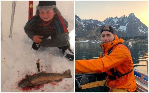 Christoffer Pedersen hadde en aktiv oppvekst preget av friluftsliv, jakt og fiske. Bildet til høyre er tatt hjemme på Ballstad.
