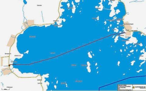 Lofotkraft planlegger å legge ut sjøkabel mellom Sennesvik og Steine.