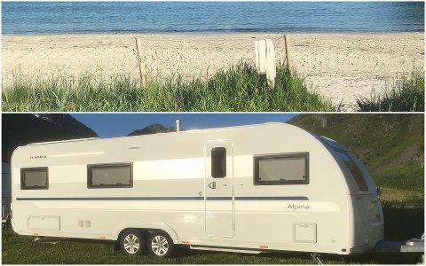 Over de neste ukene skal flere barnefamilier få våkne opp til denne utsikten fra Bjørn Ronnys campingvogn på Vik.