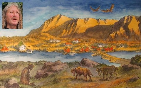 Egil Torin Næsheim har illustrert den nye boka til Sigmunn Salomonsen (innfelt). Boka handler om villsauen Balder, som lager rabalder et sted på Vestvågøy.