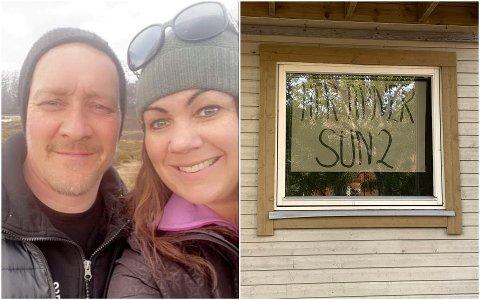 Wibece Hansen og Ronny Eriksen åpner solsenter på Leknes.
